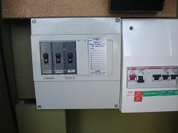 Simple inslab heating switchboard.